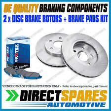 TOYOTA Landcruiser Prado 90 series 04/96-03 REAR Disc Rotors DR793 & Brake Pads