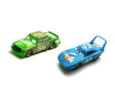 Disney Pixar Movie Cars Diecast Vehicle # 86 Green Chick Hicks & # 43 King