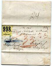 BADEN 1860 CARLSRUHE PAKETBEGELITBRIEF (A5750b