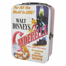 CINDERELLA FILM POSTER TIN TOTE LUNCH BOX RETRO VINTAGE CADDY WALT DISNEY AGED