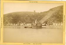 J.H. Schönscheidt, Cöln a. Rhein, Caub und die Pfalz Vintage albumen print.  T