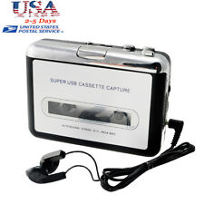 USB Cassette Tape to MP3 iPod CD Converter Capture Audio Music Player Free