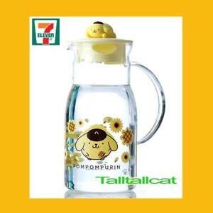 2019 HK 7-11 Sanrio Pom Pom Purin Sunflower blossoming Glass Water Bottle Jar