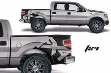 Custom Vinyl Rear Decal FX4 Wrap Kit for Ford Truck F-150 2009-2014 Matte Black