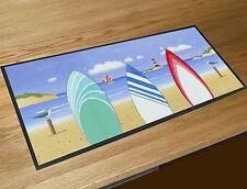 Martin Wiscombe Beach Surf boards bar runner home bar counter mat