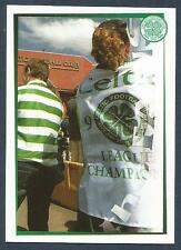 "PANINI ""HERE COME THE BHOYS""-CELTIC 2001- #153-FAN ENDING GERS 10 IN A ROW FLAG"