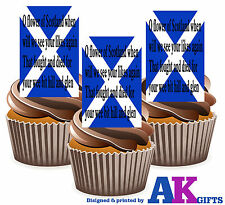 Scotland Scottish National Anthem Flag 12 Edible Wafer Cake Toppers Rugby Party