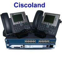 Cisco CCNA Voice Collaboration Lab Kit 2811 w/ CME 8.6 + 3560-PS (PoE) + 2x 7940