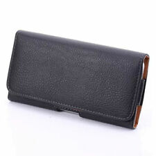 """For iPhone 6 6s 4.7"""" Tradesman Lichi Skin Magnetic holster Leather Belt Clip NEW"""