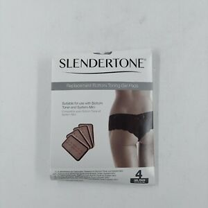 Slendertone Replacement Gel Pads for Mini Bottom Toning System (4 Pads) Black