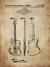 Antique, vintage guitar FENDER, GIBSON - designs for decoration / poster / mural