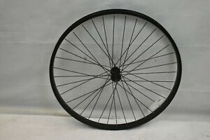 "Front 26"" MTB Wheel Black OLW100 36S 25mm Hardtail Downhill Alloy AV USA Charity"