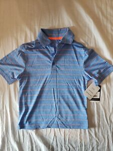 C9 Champion Boys' Golf Polo shirt Duo Dry Blue w Orange stripe XS 4-5