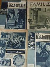 LOT JOURNAUX ancien LA FAMILLE illustrée 1934 REVUE ALSACE et LORRAINE journal