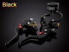 Universal CNC Black Brake Clutch Master Cylinder Lever Fluid Oil Reservoir Kit