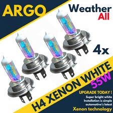 4x H4 55w All Weather Xenon White Upgrade Light Bulbs 472 Twin Headlight 12v