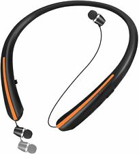 Bluetooth 5.0 Headphones, Retractable Earbuds Wireless Headset Noise Canceling S