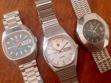 Lot 3 Rado Voyager Stag Ticino 702 Automatic Day Date Swiss Made Vintage 1970