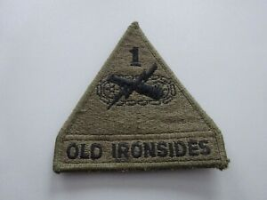 (A55-4) USA Abzeichen Patch Panzer Armored Brigade 1st Old Ironsides klett