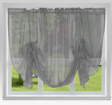 "Voile Tie Blinds 59"" Wide or 87"" Wide ~ Net Curtains & Slot Top Voile Panels"
