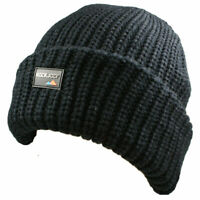 MENS LADIES WARM WOOLLY BEANIE HAT THINSULATE INSULATION LINED WINTER SKIING