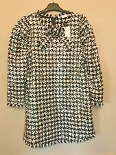 BNWT ZARA BLACK AND WHITE SEQUIN HOUNDSTOOTH DRESS SIZE M