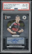 MIROSLAV KLOSE 2018 WORLD CUP PRIZM AUTO PSA 10 GEM MINT GERMANY AUTOGRAPH