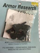 Armor Research 1/35 scale Early Panzer IV Turret Ausf A.