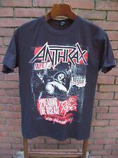 Anthrax Concert T Shirt Medium 100% Cotton Metal Thrash 1986 2015 Tour Nightmare