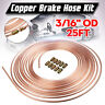 Copper Brake Pipe Hose Kit 25ft 10 x Male & Female Nuts Joiner Joint 3/16 Union