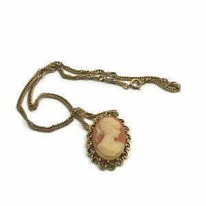 Vintage Lady Cameo Necklace