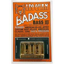 Leo Quan Badass Bass III Bridge 4 String Grooved Saddles Gold