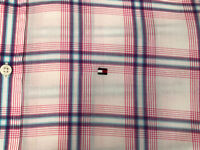 Tommy Hilfiger Check Shirt Size M Short Sleeve Good Condition Short Sleeve