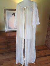 Vintage Sheer Nylon Satin Ribbon Lace Cutwork Sleeves  XL - 2XL. Ilise Stevens