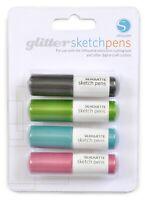 GLITTER SKETCH PEN 4 Pack New Silhouette SD Cameo Digital Design Cut Machine