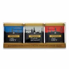 Twinings London Skyline Red, White and Blue Caddies