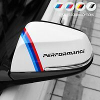 2 x For BMW PERFORMANCE Mirror M Sport VINYL STICKERS Stripes JDM DECAL Graphics