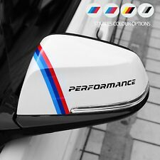 2 x For BMW PERFORMANCE Mirror Sport VINYL STICKERS JDM DECAL Graphic Decoration