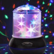 Proyector Lámpara de estrellas bebé niños sensorial Luz de Noche Lámpara LED de color multi