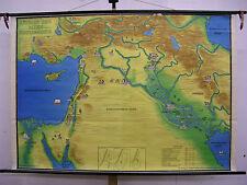 Murs CARTE MAP CARTE ancien testament Holy Bible Bible Jésus ~ 1964 170x117cm