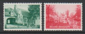 Belgium - 1954, 80c + 20c and 2f + 1f Bruges Fund set - MNH -SG 1534/5