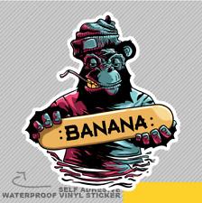 Banana Gorilla Skateboard Skate Vinyl Sticker Decal Window Car Van Bike 2768