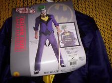 Joker Costume Super Villain DC Comics Adult Size XLarge-Plus cane, wig & makeup