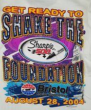 Nascar 2004 Sharpie 500 Graphic T Shirt sz 2xl XXL Front Back Print Tee Bristol