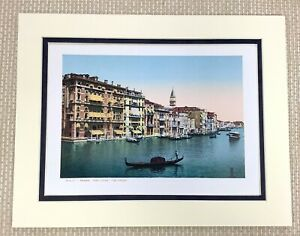 1904 Antique Print of Venice Italy The Grand Canal Gondola City Landscape View