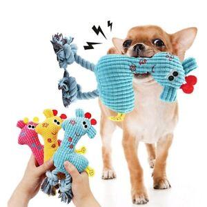 Funny Pet Cat Dog Puppy Chew Squeaker Squeaky Plush Sound Giraffe Training Toys