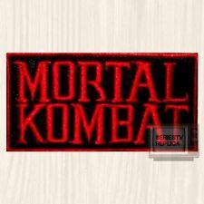 Mortal Kombat Word Logo Embroidered Patch Sub-zero Scorpion Raiden Red 9 PS