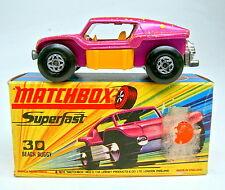 "Matchbox SF Nr.30B Beach Buggy lilametallic, gelbe Einrichtung ""I"" Box"