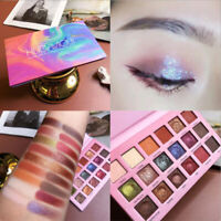 18 Colors Eyeshadow Palette Pigmented Matte Shimmer Gliter Makeup Eye Shadow Kit