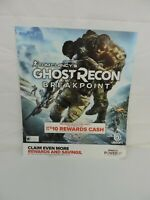 Ghost Recon Breakpoint GameStop Exclusive Promo Poster RARE DISPLAY GAME ROOM